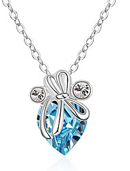 Women's Pendant Necklaces Crystal Chrome Animal Design Love Heart Personalized Euramerican Jewelry For Wedding Party Congratulations