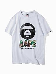 гонконг Shawn прилив бренд 2017 лета нового досуг дикие люди хеджирование шея с коротким рукавом футболки