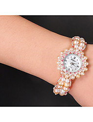 Damen Modeuhr Quartz Band Rosa Rosa