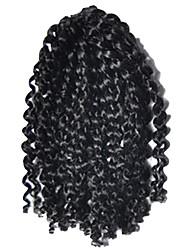 1 Pack 8inch Black 1B# Curly Afro Kinky Mali Bob Braids Hair Extensions Kanekalon Hair Braids 30g (5-6pack/head)