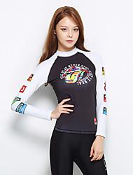 Esportivo Mulheres Respirável Secagem Rápida Design Anatômico Náilon Chinês Fato de Mergulho Manga Comprida Blusas-Natação Mergulho