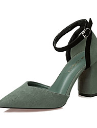 Damen-High Heels-Kleid-Wildleder-Blockabsatz-Komfort-