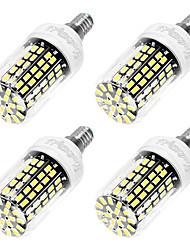 YouOKLight 4PCS E14 6W AC220-240V 108*5733 SMD LED Cold White High Luminous Corn Bulb Spotlight LED Lamp Candle Light for Home Lighting