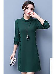 2017 весной новые женщины&# 39, S плиссированных платьев рукав тонкого пятно реальный выстрел