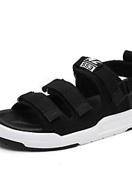 Women's Sandals Summer Gladiator Fabric Outdoor Casual Flat Heel Buckle