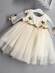 Girl's Embroidered Dress,Cotton Polyester Summer Half Sleeve