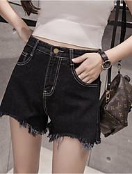signer printemps et d'été haute short en jean taille féminins étudiants coréens bords irréguliers lavé short en jean