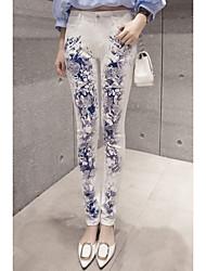 Femme N/C Taille médiale Extensible Skinny Pantalon,Crochet Sexy Autres