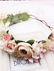 Women's Fabric Hair ClipCute Party Casual Spring Summer Headband Headpiece Head Wreath  Hair Accessories  Flower Girl