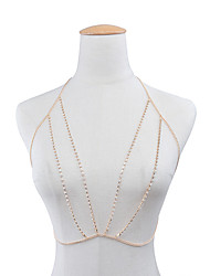 Femme Bijoux de Corps Chaîne de Corps Mode Strass Forme Géométrique Or Argent Bijoux Pour Décontracté 1pc
