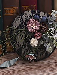 Льняная ткань головной убор-свадьба специальный случай случайные наружные шляпы 1 шт.