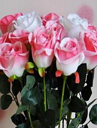 1 Ramo Plástico Rosas Flor de Mesa Flores artificiais 8*8*75