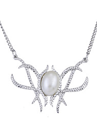 Lureme Hobbit Galadriel Pendant Necklace Alloy with Imitation Pearl Cat's Eye Stone Pendant