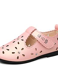 Fille-Décontracté-Blanc Rouge Rose-Talon Plat-Flower Girl Chaussures-Sandales-Polyuréthane