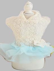 Chien Robe Smoking Vêtements pour Chien Eté Princesse Mignon Mariage Anniversaire Mode Rose Bleu clair