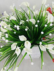 1 Rama Plástico Lirios Flor de Mesa Flores Artificiales 2*5