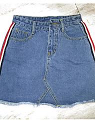 Sign spring new high waist denim bust skirt a word was thin package hip denim skirt female flash