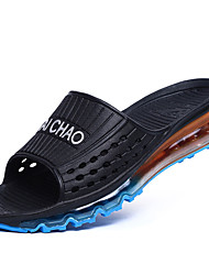 Men's Slippers & Flip-Flops Summer Comfort Light Soles Leatherette Outdoor Casual Low Heel Black Blue