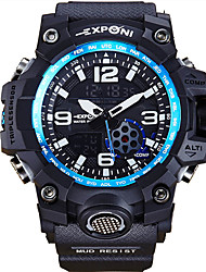 Men's Sport Watch Japanese Quartz PU Band Black