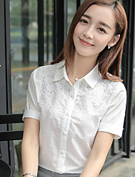Really making 2017 summer new female short-sleeved shirt solid color shirt