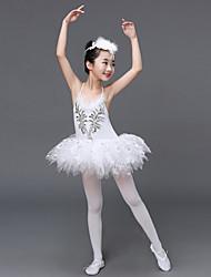 Devemos vestir vestidos de balé desempenho infantil vestido de vestido de babados de tule