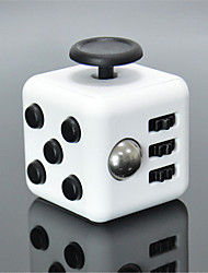 Anxiety Reliever Fidget Dice Cubic Cube Fidget Toys for Focusing / Stress Relieving ABS ---White