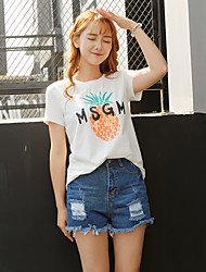 Summer new loose sleeve t-shirt female students Korean cotton printed short-sleeved long section of bamboo