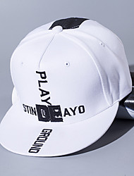 Unisex Fashion Cotton Patchwork Sun Hat Baseball Cap Casual Holiday Outdoors Men Women Summer All Seasons Black/White