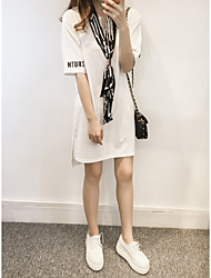 Large size women fat mm summer was thin and long sections fat sister scarf short-sleeved t-shirt
