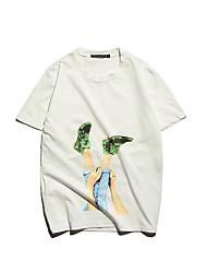 sottile uomini coreani stampati uomo T-shirt a maniche corte scoppiare posizione aberdeen vento