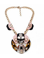 Women's Pendant Necklaces Multi-stone Gem Chrome Flower Style Fashion Euramerican Blushing Pink Jewelry ForParty Special Occasion