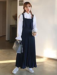 Korea girly chic frais plissé sangle pièce pantalon jambe large pantalon culottes spot