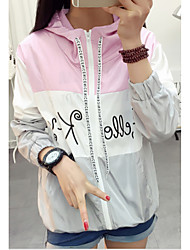 Sign new spring and summer student hooded long-sleeved short jacket sun protection clothing