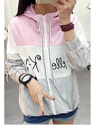 подписать новый весенне-летний студент с капюшоном с длинными рукавами короткой куртки солнце одежды защиты
