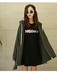 2017 spring new Girls long shirt Korean students loose sweater coat