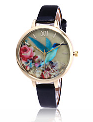 Fashion Birds Watch Casual Women Leather Flower Quartz Watch Gift Relogio Feminino