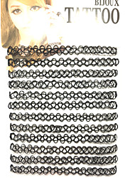 Women's Choker Necklaces Jewelry Resin Tattoo Style Double-layer Jewelry For Daily Casual Outdoor