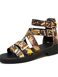 Women's Sandals Summer Fall Club Shoes PU Office & Career Dress Casual Low Heel Zipper