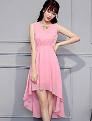 Signer imprimer slim 2017 nouvelles femmes&La longue section de la élégante robe en mousseline de soie bohème