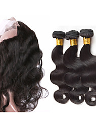 Vinsteen 8A Peruvian Body Wave Virgin Hair 3 Bundles with 360 Lace Frontal Closure Peruvian Human Hair Unprocessed Peruvian Cheap Human Hair Weaves