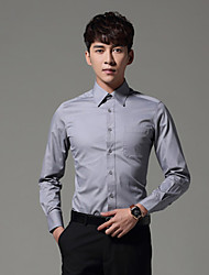 Men's Beach Simple Shirt,Solid Shirt Collar Long Sleeve Others