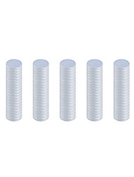 10 x 2mm Strong Rounded NdFeB Magnets - Silver (200 PCS)