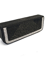 Women Stylish Classical Beads Clutches Evening Bags Gold/Silver/Black