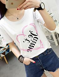 Sommer neue koreanische Frauen&# 39; s kurz-sleeved T-Shirt weibliche Modelle Zeichen