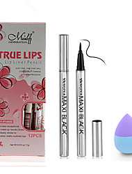 Eyeliner+Lip Liners+Powder Puff/Beauty Blender Eyes Face Lips Long Lasting Waterproof Others