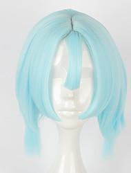 Pelucas de Cosplay Cosplay Cosplay Azul Corto Animé Pelucas de Cosplay 40 CM Fibra resistente al calor
