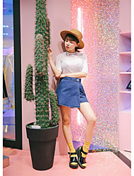 South Korea NEW ITEMS chic personality denim culottes large overlap goods have been put out