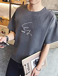 Neue Männer&# 39; s kurz-sleeved T-Shirt Normallack Buchstabencafe
