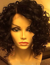 Hot!! High Quality 100% Human Hair Lace Front Wavy Style Brazilian Virgin Hair Wigs for Women With Baby Hair