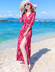 Wrap robe de soie robe enroulée slim sexy slit skirt dress beach resort